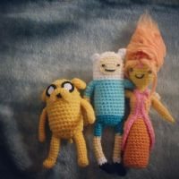 Adventure Time: Jake, Finn and Flame Princess by michelle-murder