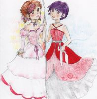 Uiko and Mika a trade for KxChi by SeafaringSarah