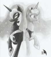 The Two Faces of the Moon by Wings-Dragon