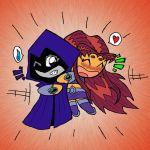 Teen Titans:Raven and Starfire by What-the-Gaff