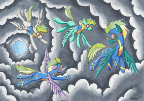 Copic Commission - Into The Storm by mikiXtheXgreat