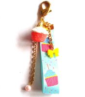 Birthday Cupcake Bag Charm 1 by FatallyFeminine
