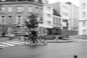 Cyclist at Overpoort by Garficar