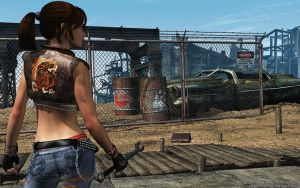 Post-apocalyptic gang member by Dendory