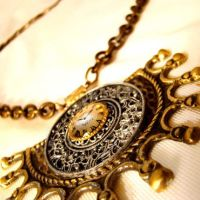 Epic Tribal Steampunk Necklace by Om-Society
