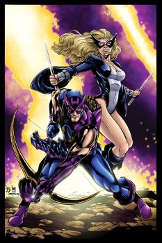 Hawkeye and Mockingbird Color by BDStevens