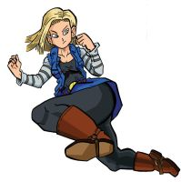 Android 18 by NecroAnomaly