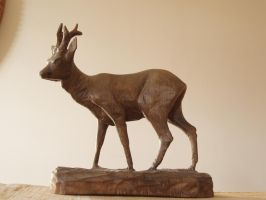 Roe in  Lime by woodcarve