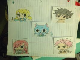 Chibi Fairy Tail by Pikawolf11