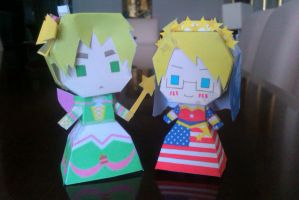 I declare you woman and...woman?~Papercraft by me! by LadyEdile