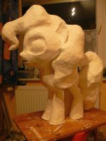 Clay Pinkie Pie nearly ready for paint by Znegil