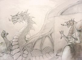 Draw carefully or else... by WalesDragon-2012