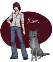 Aiden, the Silver Coyote by Aiseya
