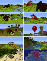 MineCraft Creatures and Vehicles by lunchbox1234