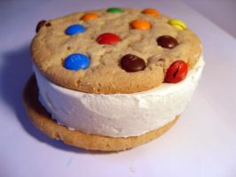 M+M Cookie Ice Cream Sandwich by itsmonotune