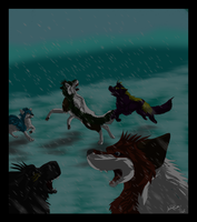 Winter Wolves by WolfAngelStar