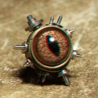 Steampunk pin 3-D by MVRamsey