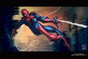 amazing spiderman by artnerdx