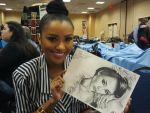 Actor Kat Graham and my drawing by jeanetkristensen