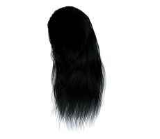 Stock Hair Images #2 long black front by madetobeunique