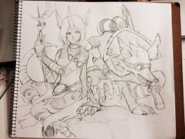 SORAKA AND TWITCH by AmanoChio