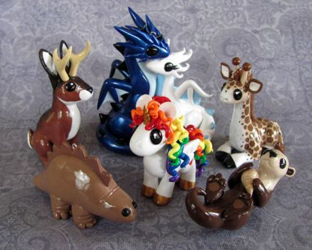 Custom Ornament Set by DragonsAndBeasties