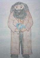 Hagrid with baby Harry by rasberrykiwi