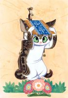 My Cat and a Weasel by Pocketowl