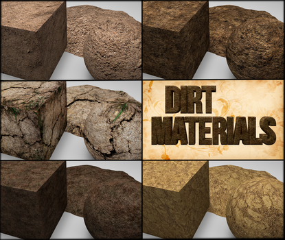 Cinema 4D -- Dirt MaterialPack by SMOKEYoriginalHD