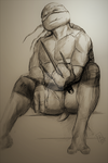 Raph - pencils and charcoal (digital) by AlessandraDC
