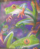 Chalk Frogs by xanykaos
