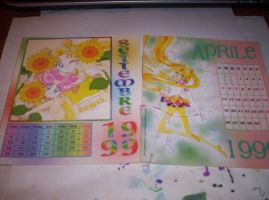 Sailor Moon Calendar September April by MindOfPain