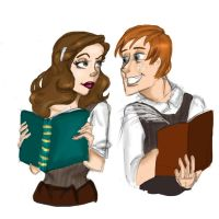 Ron and Hermione by Mize-meow