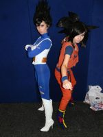 Vegeta and Goku cosplay by Illuminated-Imagery