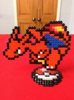 Pokemon: Charizard- Hama Design by Dogtorwho
