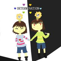Pacifist or Genocide (Undertale Fanart #4) by 1Rabbitty1