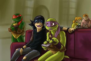 tmnt so i herd u liek to do machines by Dragona15