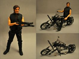 Daryl Dixon and Motorycle Set by Mace-X