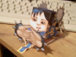Chun Li Papercraft complete by Zombie-Pacman