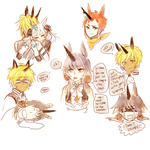 OCs -- Doodles of Unicornssss by onisuu