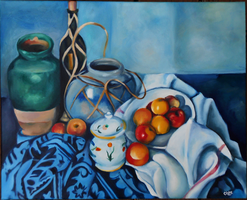 Still Life with Apples (reproduction) by unistar2000