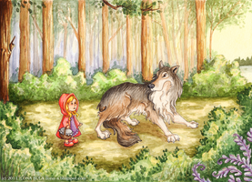 Little Red Riding Hoo- Ilona-S by childrensillustrator