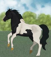 Sugarfoot and the Mysterious Stallion-WIP by pom-happy-my-dog