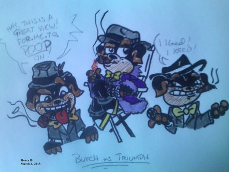 Butch Dressed as Triumph the Puppet Dog by hkidrunnerh