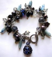 Denim and Diamonds Bracelet by TaVaBee