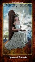 Queen of Swords Tarot by StarfireArizona