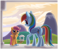 Scootaloo in Cloudsdale eReader by jlryan