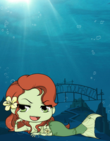Arkham Aquarium - Poison Ivy by Mibu-no-ookami