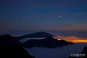 La Palma seen from Roque de los Muchachos by Solrac1993