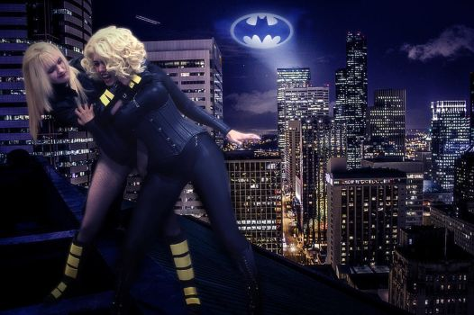 DC: Black Canary Vs Cat Woman - Cosplay by SovietMentality